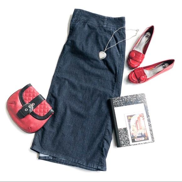 305bd95063510 Like New CJ Banks Stretch Denim Skirt
